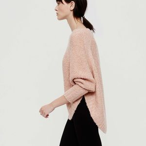 Lou & Grey | High Low Rounded Hem Poncho Sweater